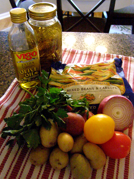 Ingredients for Potato and Green Bean Salad
