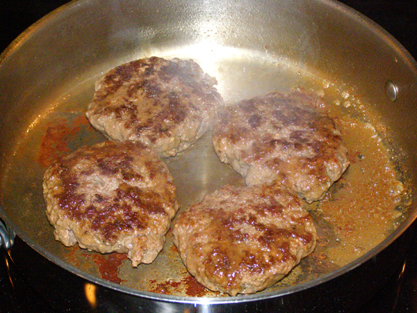 Cook burgers on the second side