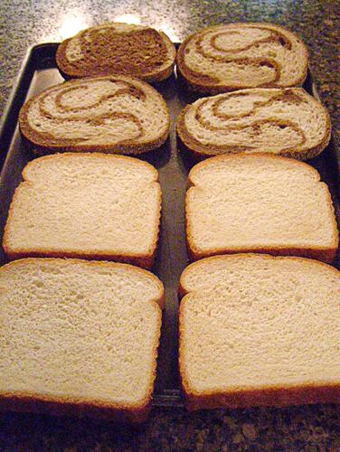 Bread for croque monsieur