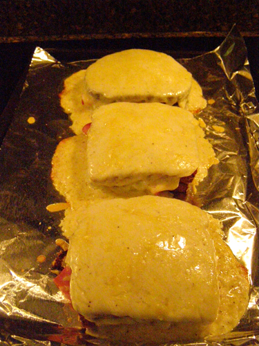 Broil the assembled sandwiches