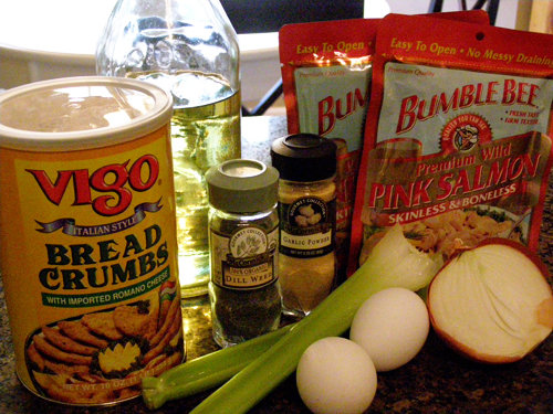 Salmon Croquettes ingredients