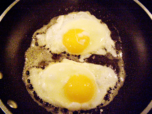 Over easy fried eggs