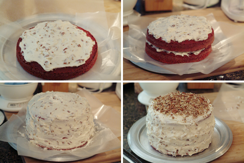 Assemble the Red Velvet Cake