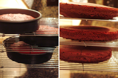 Cooling layers for Red Velvet Cake
